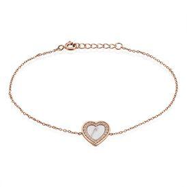 Damenarmband Silber 925 Rosé Vergoldet Herz 21 cm - Armbänder Damen | Oro Vivo