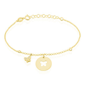 Kinder Charmarmband Silber 925 Vergoldet Zirkonia - Charmarmbänder  | Oro Vivo