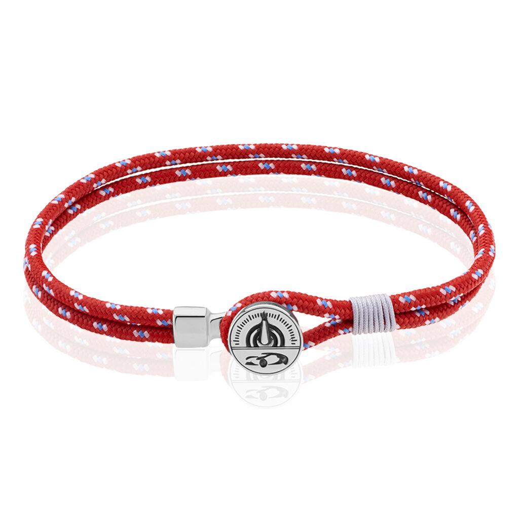 Herrenarmband Seilband Rot Tacho - Armbänder Herren | Oro Vivo