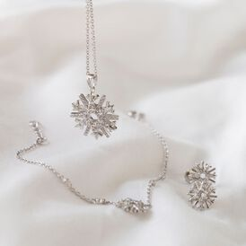Damenarmband Silber 925 Zirkonia Schneeflocke - Armbänder Damen | Oro Vivo