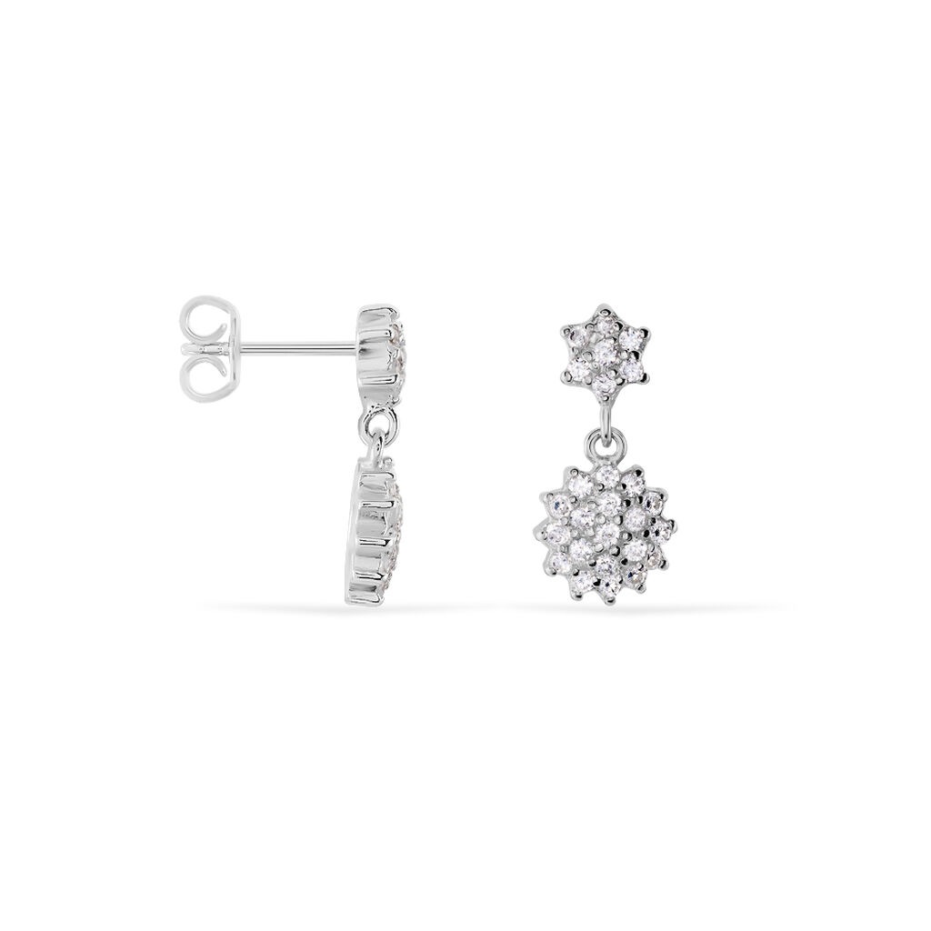 Damen Ohrstecker Silber 925 Zirkonia Blume - Ohrstecker Damen | Oro Vivo