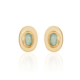 Damen Ohrstecker Vergoldet Aventurin -  Damen | Oro Vivo