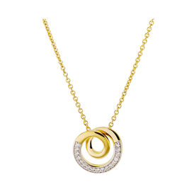 Damen Halskette Vergoldet Zirkonia - Ketten mit Anhänger Damen | Oro Vivo