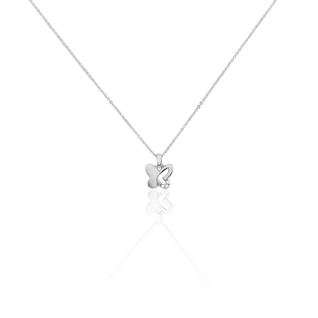Kinder Halskette Silber 925 Zirkonia Schmetterling - Ketten mit Anhänger Kinder | Oro Vivo