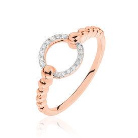 Damenring Roségold 375 Diamanten 0,043ct -  Damen   Oro Vivo