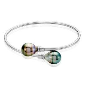 Damen Armreif Silber 925 Tahitiperle 9-10mm - Armreifen Damen | Oro Vivo