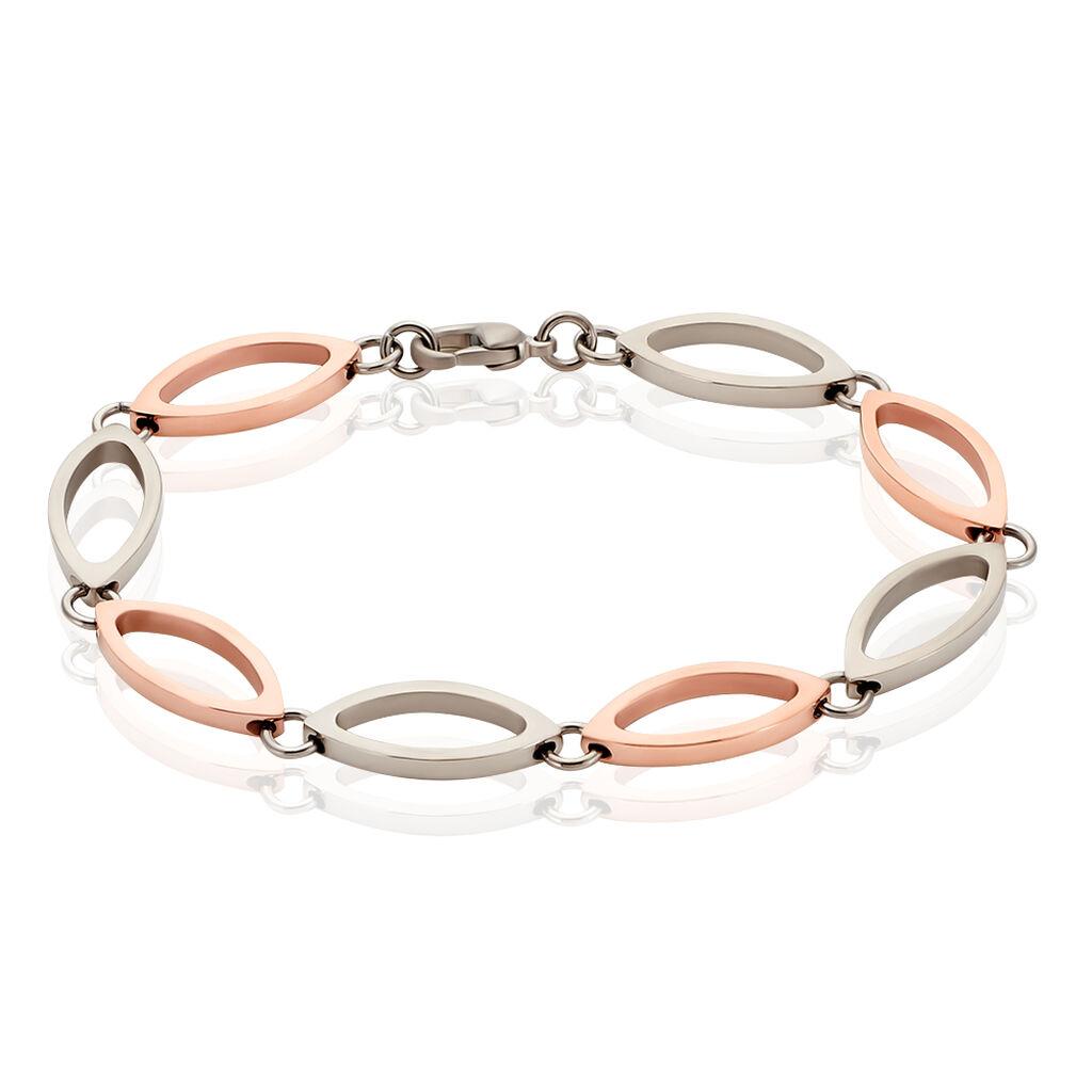 Bocciadamenarmband Titan Vergoldet Bicolor - Armbänder Damen | Oro Vivo