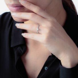 Solitärring Weißgold 375 Diamant 0,26ct - Ringe mit Edelsteinen Damen | Oro Vivo