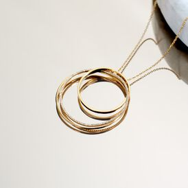 Damen Halskette Silber 925 Vergoldet Zirkonia - Ketten mit Anhänger    Oro Vivo