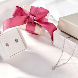 Kinder Halskette Silber 925 Zirkonia Klee -  Kinder | Oro Vivo