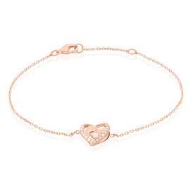Damenarmband Silber 925 Rosé Vergoldet Herz - Armbänder Familie | Oro Vivo