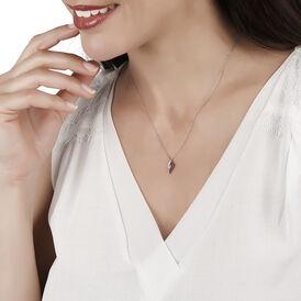 Damen Halskette Weißgold 375 Diamanten 0,05ct - Ketten mit Anhänger Damen | Oro Vivo