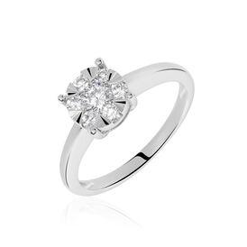 Damenring Weißgold 750 Diamanten 0,26ct  - Ringe mit Edelsteinen Damen | Oro Vivo