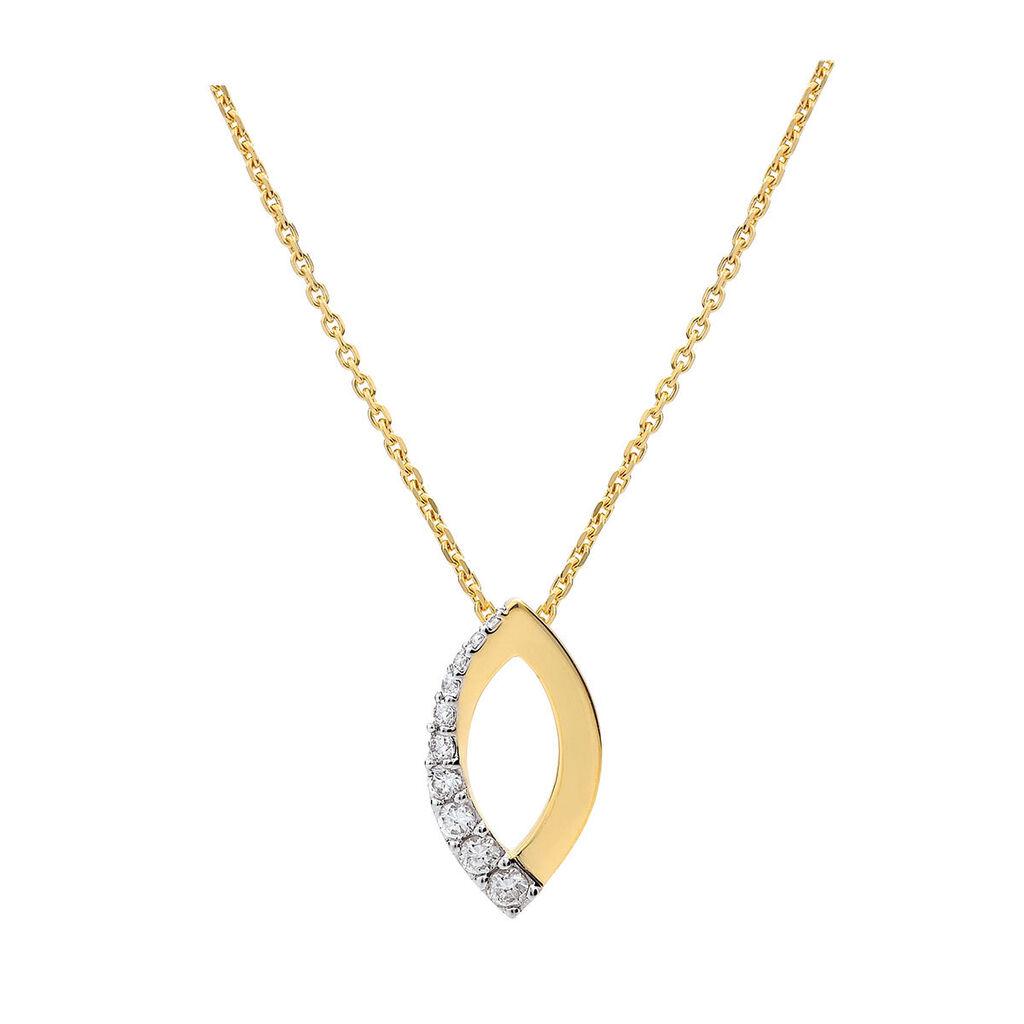 Damen Halskette Vergoldet Zirkonia - Ketten mit Anhänger Damen   Oro Vivo