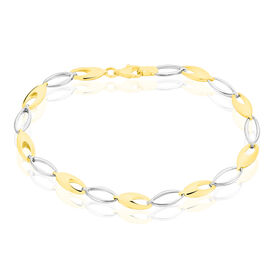 Damenarmband Gold 333 Bicolor L 19cm -  Damen | Oro Vivo