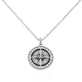 Herren Halskette Edelstahl Kompass - Ketten mit Anhänger Herren   Oro Vivo