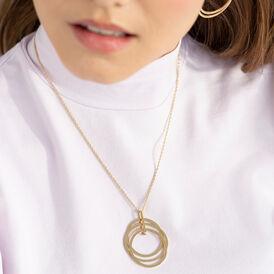 Damen Halskette Edelstahl Vergoldet  - Ketten mit Anhänger Damen   Oro Vivo