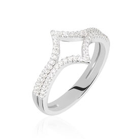 Damenring Silber 925 Zirkonia - Ringe mit Stein    Oro Vivo