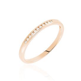 Damenring Roségold 750 Diamanten 0,055ct - Eheringe Damen | Oro Vivo