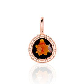 Anhänger Silber 925 Rosé Vergoldet Zirkonia - Black Friday Damen | Oro Vivo