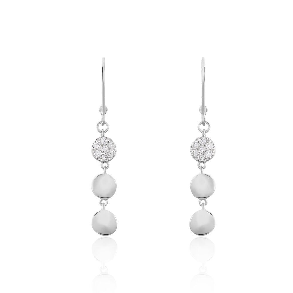 Damen Ohrhänger Lang Silber 925 Zirkonia Kugel - Ohrhänger Damen | Oro Vivo