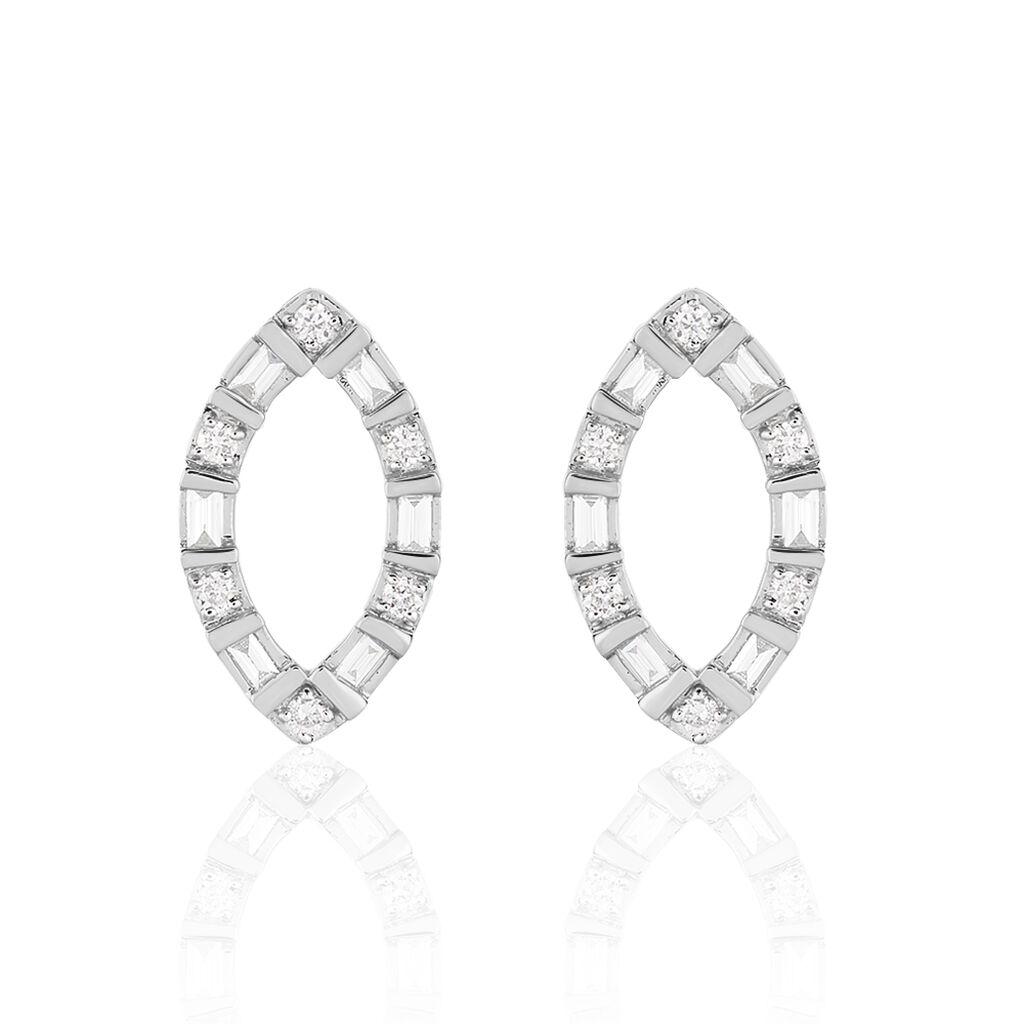 Damen Ohrstecker Weißgold 750 Diamanten 0,24ct - Ohrstecker Damen | Oro Vivo