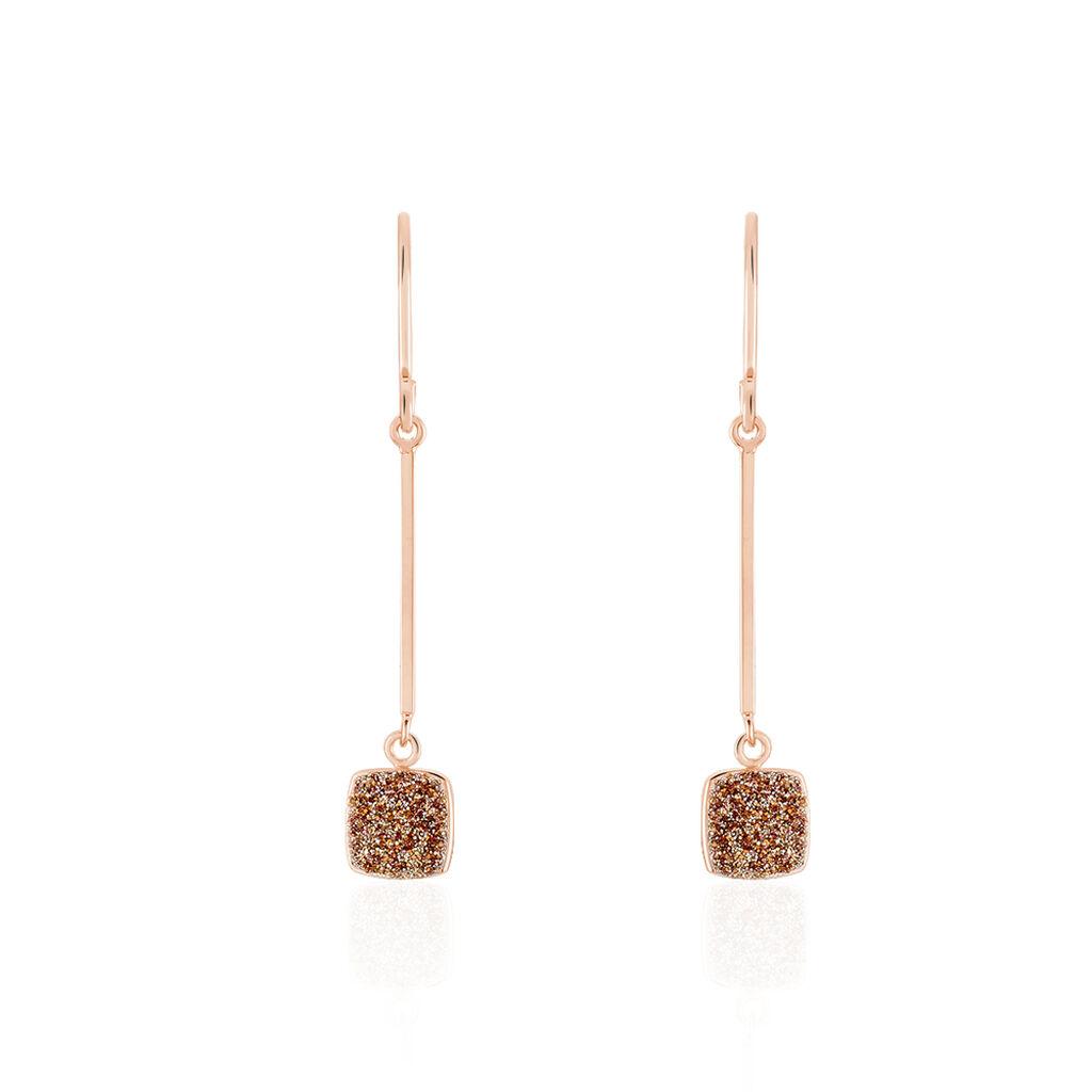 Damen Ohrhänger Lang Gold 375 Rosé Vergoldet  - Ohrhänger Damen | Oro Vivo