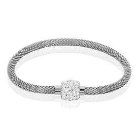 Damenarmband Edelstahl Kristall  - Armbänder Damen   Oro Vivo