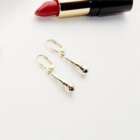 Damen Ohrhänger Lang Gold 333 Bicolor - Ohrhänger Damen   Oro Vivo