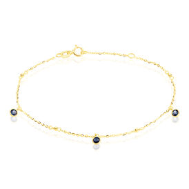 Damenarmband Gold 375 Blauer Zirkonia - Armbänder Damen   Oro Vivo