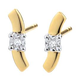 Damen Ohrstecker Gold 375 Diamant 0,01ct - Ohrstecker Damen | Oro Vivo