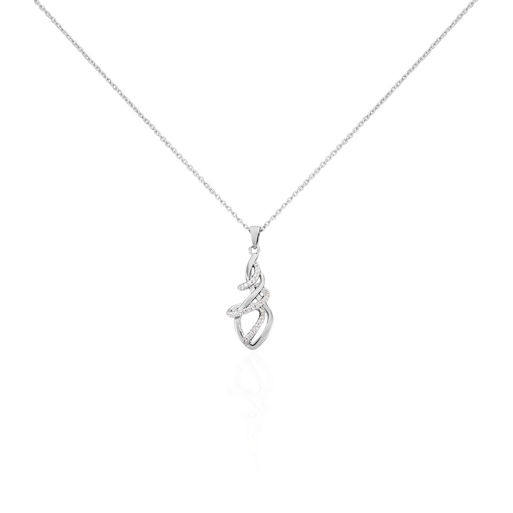 Damen Halskette Silber 925 Zirkonia  - Kategorie Damen   Oro Vivo