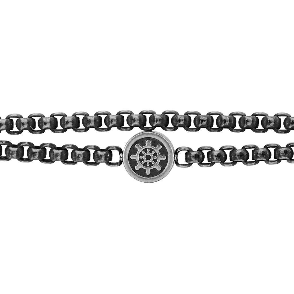 Herrenarmband Edelstahl Geschwärzt Ruder - Armbänder Herren | Oro Vivo