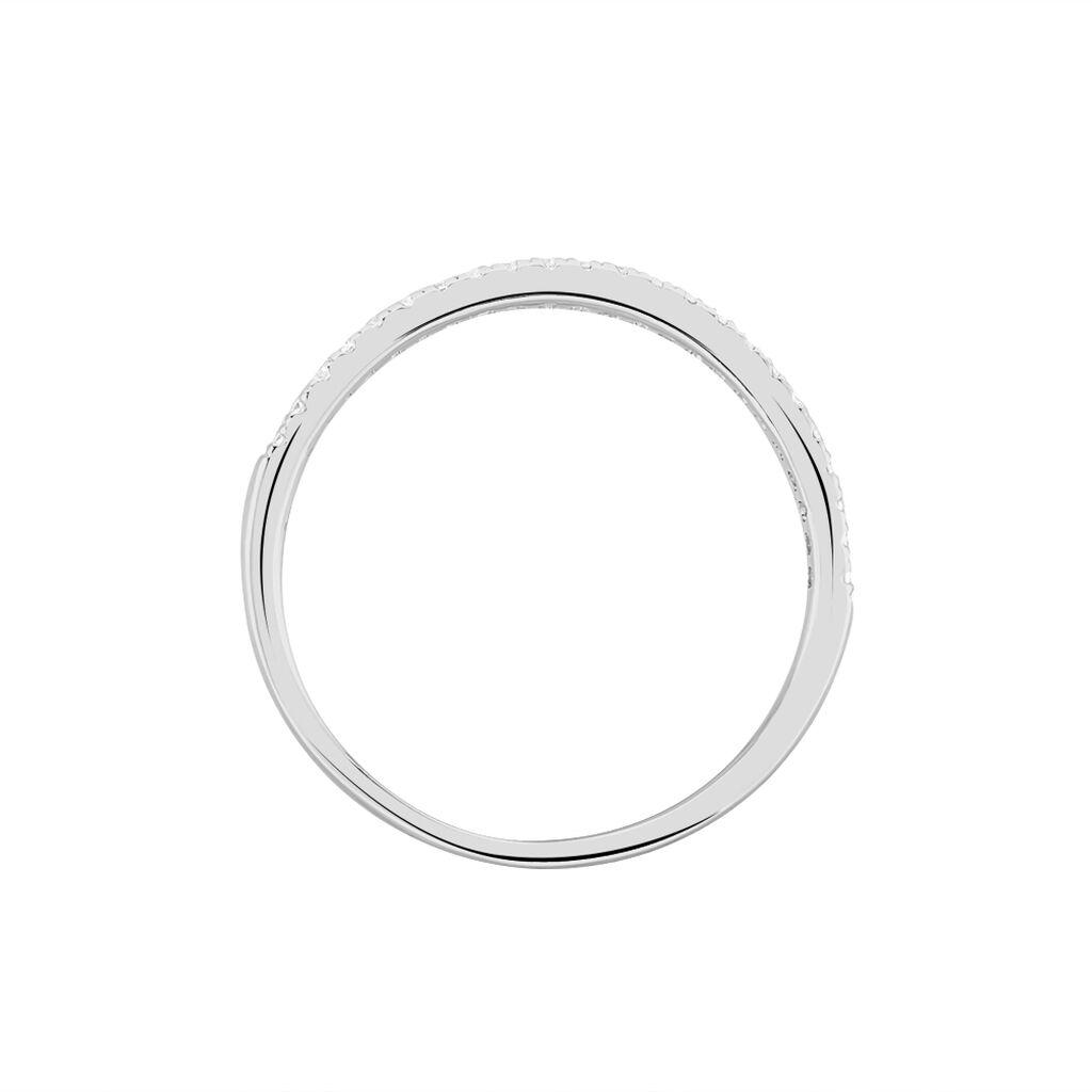 Damenring Weißgold 585 Diamanten 0,18ct - Black Friday Damen | Oro Vivo
