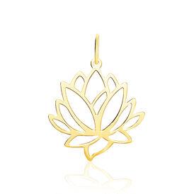 Anhänger Gold 375 Lotus - Schmuckanhänger Damen | Oro Vivo