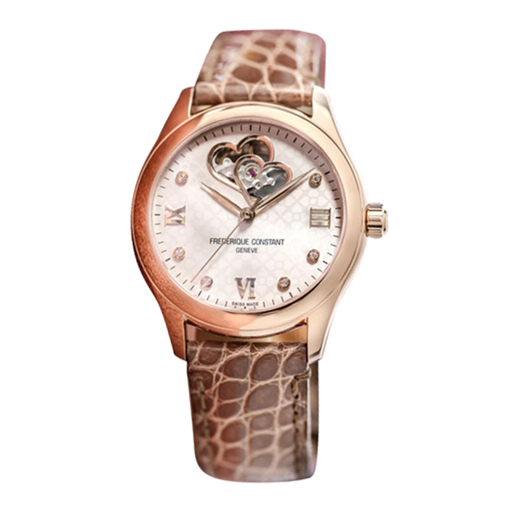 Frederique Constant Damenuhr Double Heart Beat - Analoguhren Damen | Oro Vivo
