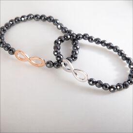 Damenkugelarmband Silber 925 Hämatit Infinity - Armbänder  | Oro Vivo