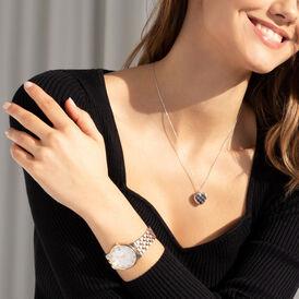 Damen Halskette Silber 925 Rhodiniert Medaillon - Herzketten Damen   Oro Vivo