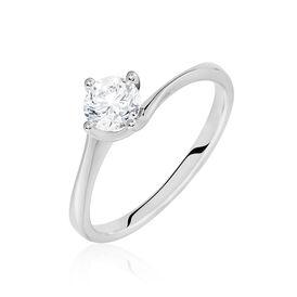 Solitärring Weißgold 750 Diamant 0,53ct - Ringe mit Edelsteinen Damen   Oro Vivo