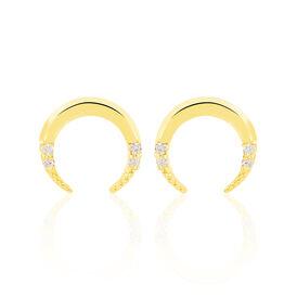 Damen Ohrstecker Gold 375 Zirkonia Mond - Ohrstecker    Oro Vivo
