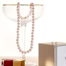 Damen Collier Gold 585 Zuchtperlen 7-7,5mm - Ketten mit Stein Damen | Oro Vivo