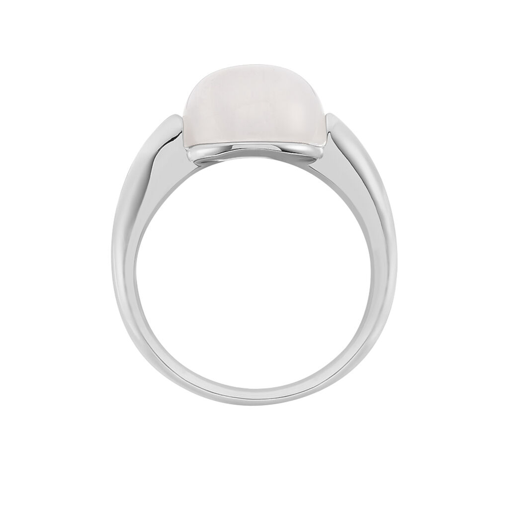 Damenring Edelstahl Rosenquarz - Ringe mit Stein Damen | Oro Vivo