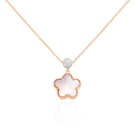 Damen Halskette Gold 750 Rosé Vergoldet Diamanten - Ketten mit Anhänger Damen | Oro Vivo