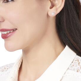 Damenohrhänger Silber 925 Blume - Ohrhänger Damen | Oro Vivo