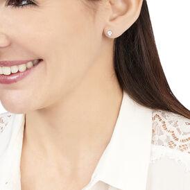 Damen Ohrstecker Weißgold 375 Blauer Topas 4mm - Ohrstecker Damen | Oro Vivo