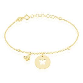 Kinder Charmarmband Silber 925 Vergoldet Zirkonia - Charmarmbänder Kinder | Oro Vivo