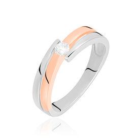 Spannring Gold 585 Bicolor Diamant 0,11ct - Black Friday Damen   Oro Vivo