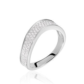 Damenring Weißgold 750 Diamanten 0,339ct - Ringe mit Edelsteinen    Oro Vivo
