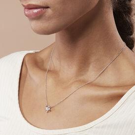 Damen Halskette Silber 925 Diamant 0,011ct - Ketten mit Anhänger    Oro Vivo