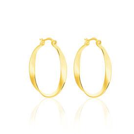 Damen Creolen Silber 925 Vergoldet  - Creolen Damen   Oro Vivo